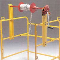 manhole guard rail winch