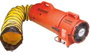 manhole blower with duct