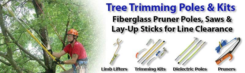 Jameson Fiberglass Pruner Poles and Lay-Up Sticks