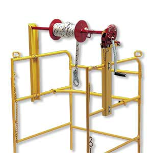 Manhole Guard Rail Winch Easily Raise Amp Lower Equipment