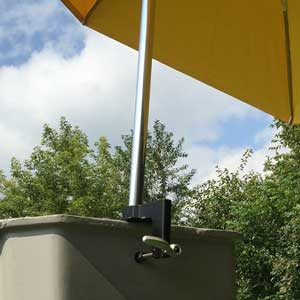 UBC001 Umbrella Bucket Mount In Use