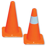 High Visibility Orange Traffic Cones