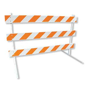 Type III Plastic Traffic Barricades