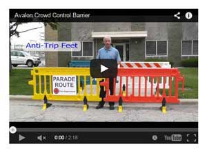 Avalon Crowd Control Barrier Video