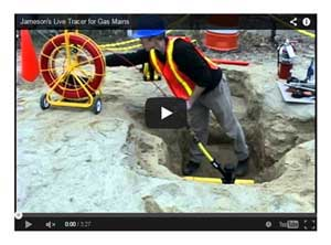 Jameson Live Tracer Gas Line Main Locating Video