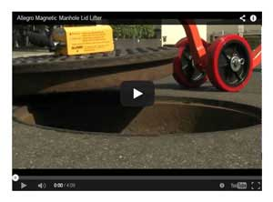 Allegro Magnetic Manhole Cover Lifter Video