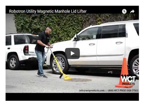 Utility Robotron Magnetic Manhole Cover Lifter Video