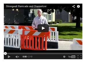 Strongwall ADA Barricade and Channelizer Video