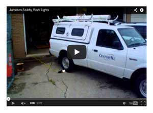Stubby Light Fluorescent Work Lamps Video